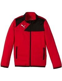 Puma Jacke Esquadra Poly Jacket - Cortavientos para niño, color rojo, talla 140 cm