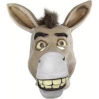 TYXHZL Halloween Funny Animal Skull Cover Poor Mouth Funny látex máscara