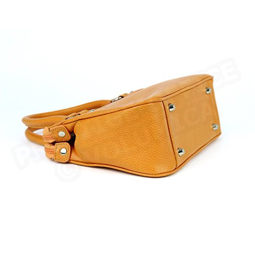 Mini Tasche MONACO Leder Herstellung Luxe Französische Orange - Orange
