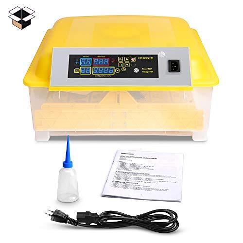 Pujuas Inkubator Vollautomatische Brutmaschine Brutkasten Brutapparat mit LED Temperaturanzeige