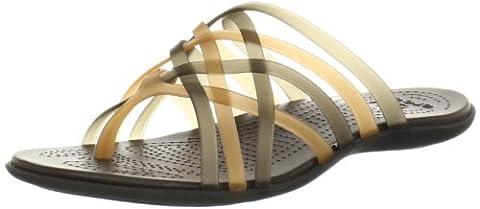 Crocs Huarache, Women's Flip flops, Brown (Bronze/Espresso), 6