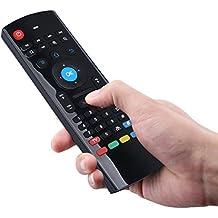 Veemoo Mando a distancia MX3 2.4GHz Inalámbrico Teclado Remoto con Aire Ratón Y IR Aprendizaje Remoto Para Android TV box Smart TV