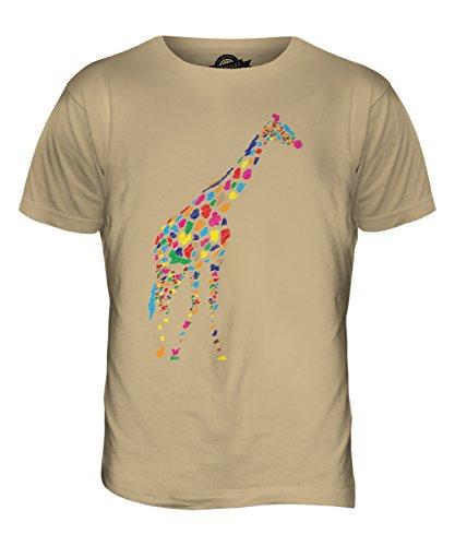 CandyMix Gekritzelte Giraffe Herren T Shirt Sand