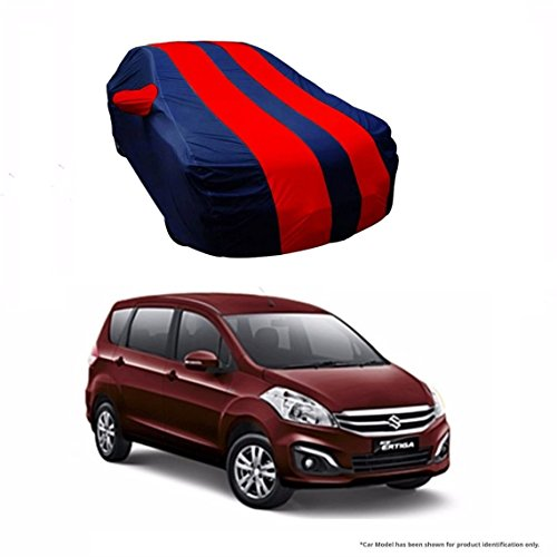MotRoX Dual Tone Stripe Car Body Cover For Maruti Suzuki Ertiga (Navy Blue with Red Stripe)  available at amazon for Rs.1036