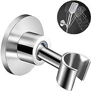 VEEMOS Stainless Steel Shower Head Holder, 360° Adjustable Adhesive Handheld Bathroom Shower Head Bracket, Met