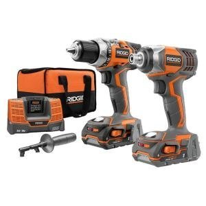 Ridgid R9600 X4 Hyper 18V Cordless Lithium-Ion 1/2 in. Drill Driver and Impact Driver Combo Kit by Ridgid