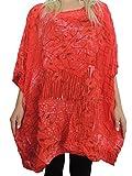 Tolle Damen Blusen Shirts mit schönem Muster Größe 54 56 58 60 62 (Rot)