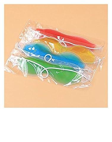 Distinct® 2 pcs Kühlaugen Pad Ice Brille Schlafmasken für erholsamen Schlaf