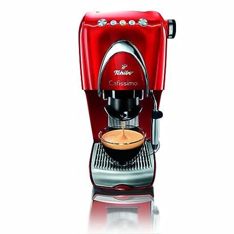 Tchibo Cafissimo Classic Kapselmaschine (die Kaffeemaschine für aromatischen Filter-Kaffee, Espresso, Caffé Crema oder Tee) rot