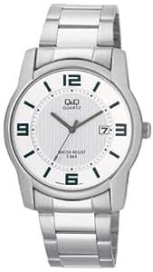 Q&Q - A438J204Y - Montre Homme - Quartz Analogique - Bracelet Acier Inoxydable Argent
