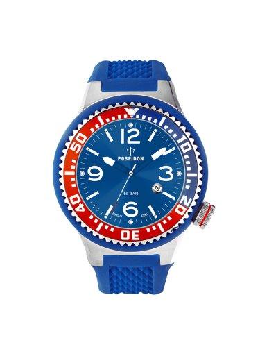 Poseidon-Kienzle - K2103017043-00415 - Montre Mixte - Quartz Analogique - Cadran Bleu - Bracelet Silicone Bleu