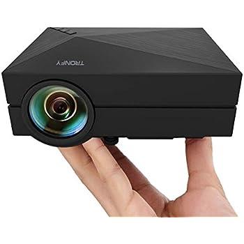 """Tronfy Pieno di colori 130"""" Portatile 800x480p LED Pico Proiettore HDMI interfaccia per Home Theater Videogiochi TV Film Supporta USB/AV/SD/VGA Interfaccia-Nero"""