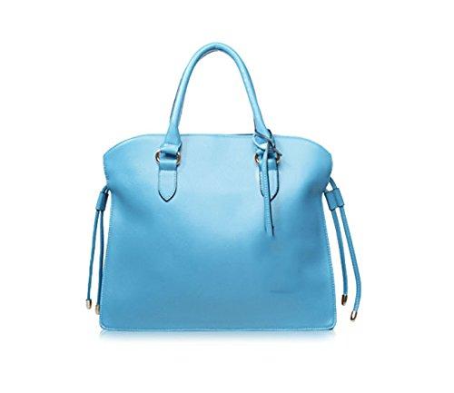 PACK Borse In Nappa Borse In Pelle Di Grande Concessione In Licenza Europa E Negli Stati Uniti Ladies Leisure Messenger Bag,A:RoseRed D:LakeBlue