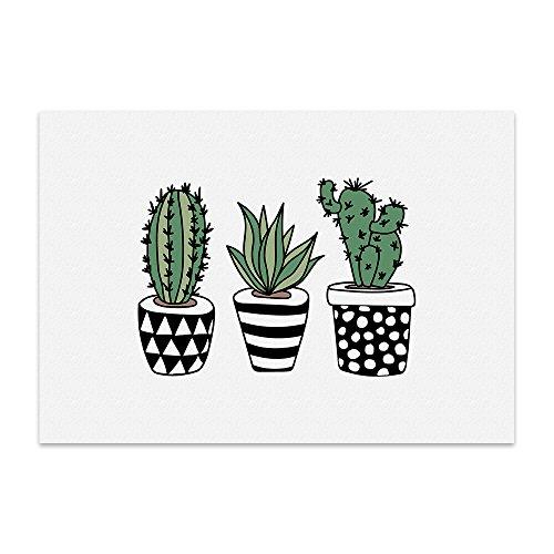 ein kaktus zum valentinstag Kunstdruck, Poster mit Spruch – KAKTEEN – Typografie-Bild auf hochwertigem Karton - Plakat, Druck, Print, Wandbild mit Zitat / Aphorismus als Geschenk und Dekoration zum Thema Kaktus, Pflanze und Sukkulenten von TypeStoff (M - 21 x 30 cm)