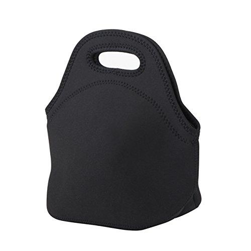 LAGUTE Mini Neopren Lunchtasche Lunch-Taschen Thermotasche Kühltasche, Neoprene Lunch Tote *Schwarz*