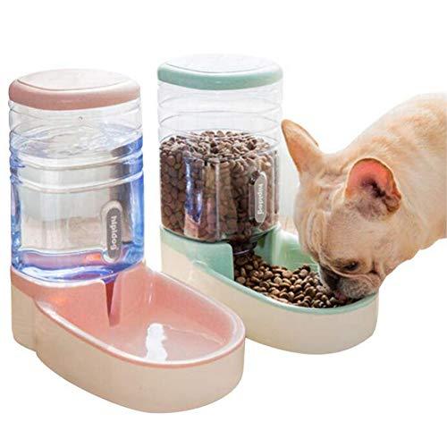 YJIUJIU Automatischer Futter und Wasserspender für Katzen und Hunde, lebensmittelecht, besonders groß (3,8 Liter) Für Haustiere, Katzen, Hunde