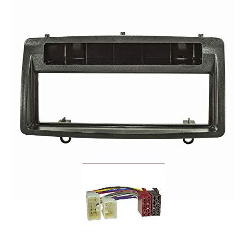 tomzz Audio 2455-016 Radioblende (Set) für Toyota Corolla E12 E120 2002-2007, ISO Radioadapterkabel, schwarz