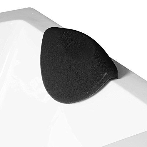 AQUADE Nackenkissen Nackenpolster Badewannenkissen Wannenkissen Kissen Badewanne Kopfkissen Nackenstütze Entspannungskissen Kopfpolster Saugnapf Schwarz 26,5cm x 17cm Modell: 6169
