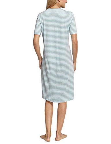 Schiesser Nachthemd 1/2 Arm, 110cm, Chemise de Nuit / Nuisette Femme Blau (Aqua 833)