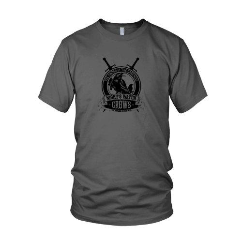 rows - Herren T-Shirt, Größe: L, Farbe: grau (Night Watch Kostüme)