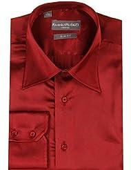Chemise de Cérémonie pour Homme poignet biseauté coloris bordeaux