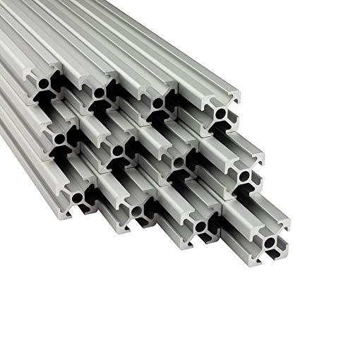 Alu Profil 12 Stück 20x20mm 2m System-, Montage-, Konstruktionsprofil Nut 6 ITEM