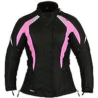 Chaqueta Protección Motos Mujer Impermeable Damas capa - Rosa, M