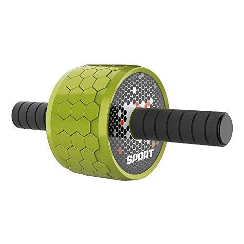 Prom-near Bauchroller Bauchtrainer AB Roller mit Komfortgriffen für Fitness Bauchmuskeltraining für Frauen und Männer, Handliches Fitnessgerät