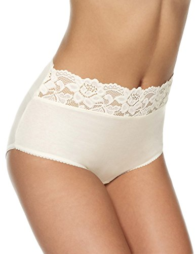 ladies-marks-spencer-ms-5-pack-cotton-rich-lace-top-full-brief-knickers-lace-14-cream