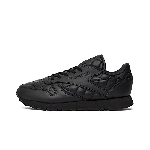 Reebok Classic Leather Quilted Donna Sneaker Nero Black/White
