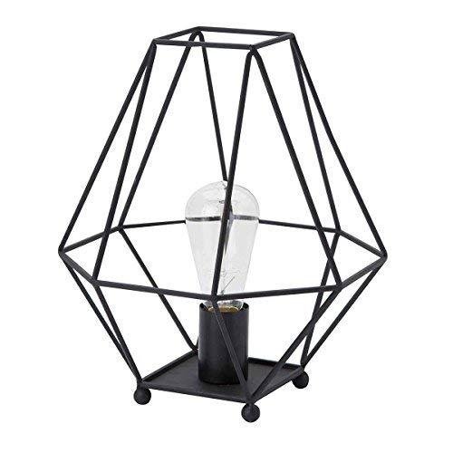 Luminaire Albany, lampe à poser métal, 40 W, noir, L 26 x H 33 cm