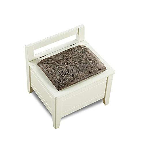 Xiejia Einfache Hocker Lagerung Massivholz Schuhe Bank Hocker Hocker sitzen Schuhe für Erwachsene Zähler Hocker Hocker klein (Farbe: milchig weiß) -
