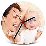Lolapix Reloj de Madera Personalizado con Foto, Texto o Imagen, Original y Exclusivo.