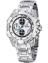 Festina F16358 1 - Reloj cronógrafo de caballero de cuarzo con correa de  acero inoxidable plateada (cronómetro) - sumergible a… dbef2df47ad