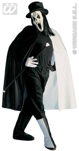 WIDMANN Kostüm Rock Ghost, Operal-Muster, Spettro - Erwachsene - Größe M