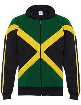 Jl Sport Negro Rasta Reggae Hombre Abada Capoeira Brasil entrenamiento de artes marciales de la chaqueta de manga...