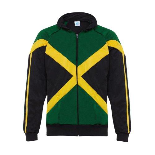 Rasta Reggae Jacke Jamaika Flagge Afrika Reißverschluss Trainingsanzug Herren Langarm