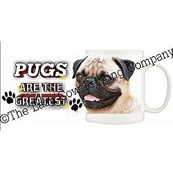 Pug (Fawn) perro taza de cerámica 10fl oz apto para lavavajillas 200