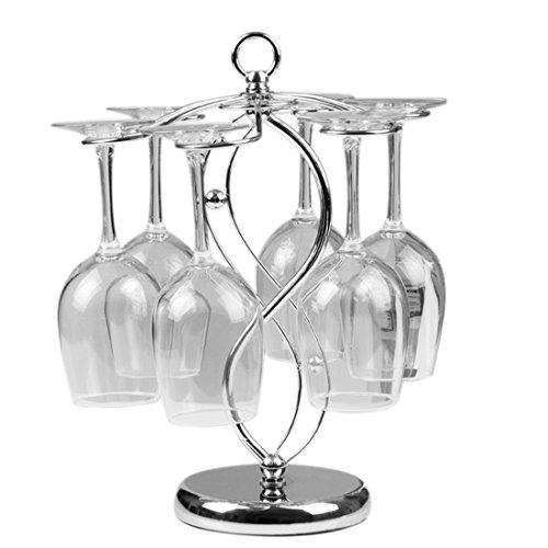 Weinregale , Foxom Edelstahl Tischweinglas Ständer/ Stemware Racks/ Glashalter/ 6 Weinglas Halter , für Zuhause, Bar, Verein Benutzen und Dekoration Stemware Rack