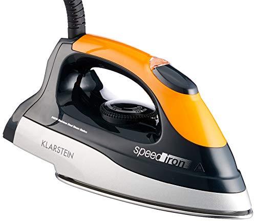 Klarstein Speed Iron 2400W 1.7L Suela de acero inoxidable Negro, Naranja - Centro de planchado (2400 W, 3,5 bar, 1,7 L, 90 g/min, Suela de acero inoxidable, Negro, Naranja)