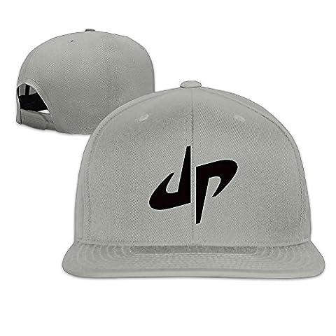 Hittings Male/Female DP Dude Perfect Logo Cotton Flat Snapback Baseball Caps Adjustable Mesh Hat Trucker Hat White One Size Fits Most