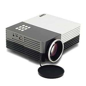 MEMTEQ® Portable Mini HD 1920 x 1080 Projecteur Vidéoprojecteur Projector Multimédia Correction jack 3,5 mm / DC / VGA / HDMI / USB / AV / SD Card pour PC / TV Famille Cinéma Théâtre Vidéo