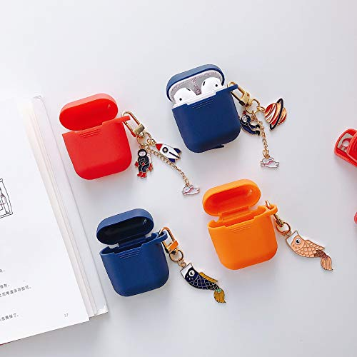 MACUH Home Anwendbar Volkswagen Planet Astronaut Anhänger Airpods Apple Bluetooth Headset Cover Anhänger (Color : Orange, Size : Airpods) (Apple Planet-kopfhörer)