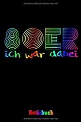 """Notizbuch: Notizbuch für 80er Jahre Fans, Retro Party, A5 , 120 gepunktete Seiten, 6x9"""", Softcover glänzend Taschenbuch"""