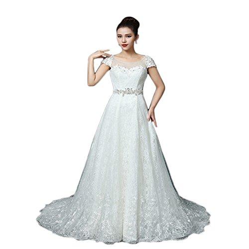 Ikerenwedding Damen Kleid Weiß