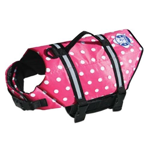 paws-aboard-extra-small-doggy-life-saver-preserver-pink-polka-dot-jacket-7-to-15-lbs-by-paws-aboard