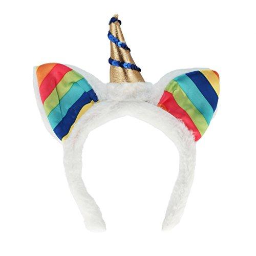 Unbekannt Einhorn Haarreifen Regenbogen Fastnacht Fasching Karneval fürs Kostüm Mitgebsel Kindergeburtstag Wurfmaterial