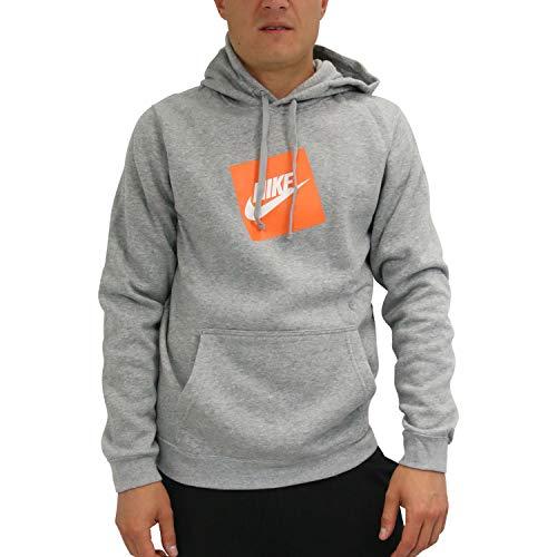 Nike Herren Fleece HBR Hoodie, Dark Grey Heather, L