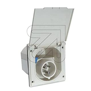 ABL Sursum 1154210. 3White Electrical Power Plug–Electrical Power Plugs (50/60, 16A)