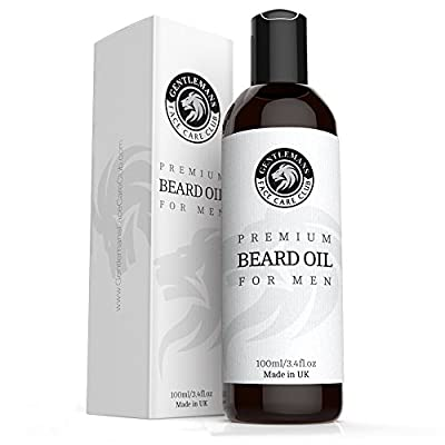 Beard Oil - Extra Large Bottle 100ml - Premium Beard Conditioning Oil For Men With Subtle Sweet Scent - Nourishes And Thickens Hair Giving Shine Without Leaving A Greasy Residue - Stop Itching Fast And Condition Your Beard Now - 100% Satisfaction Guarante